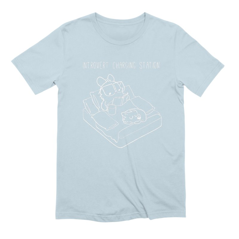 Introvert Charging Station Men's Extra Soft T-Shirt by SLOTHILDA