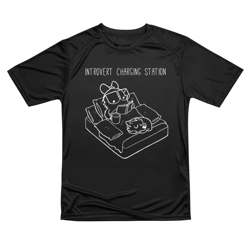 Introvert Charging Station Women's Performance Unisex T-Shirt by SLOTHILDA