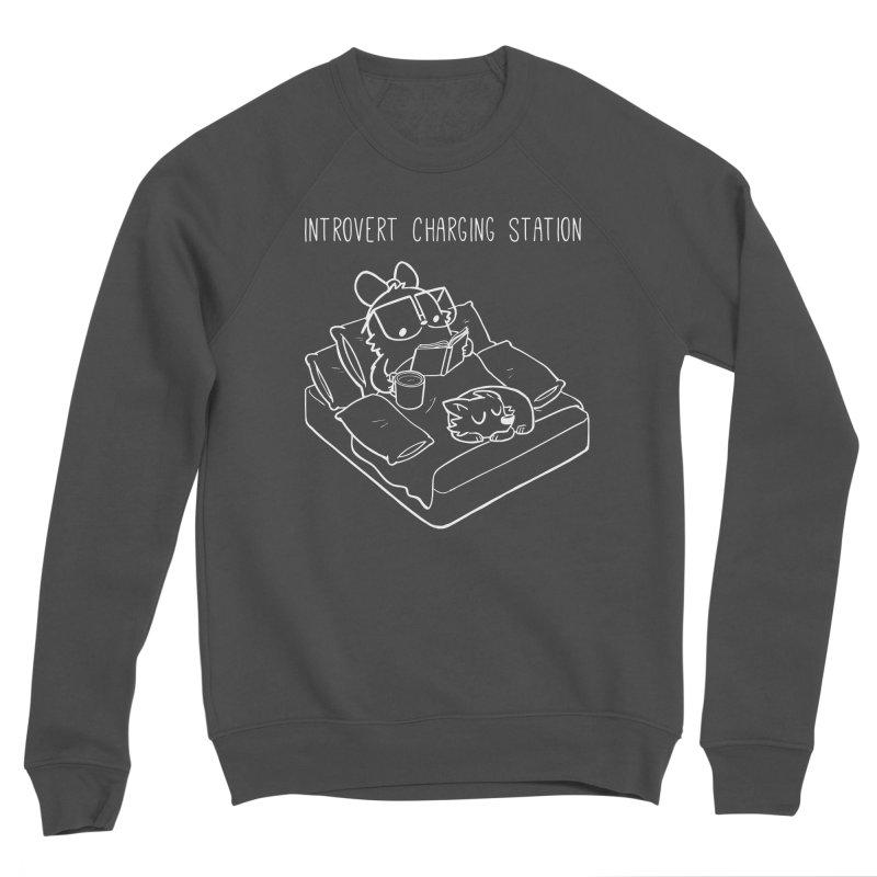 Introvert Charging Station Women's Sponge Fleece Sweatshirt by SLOTHILDA