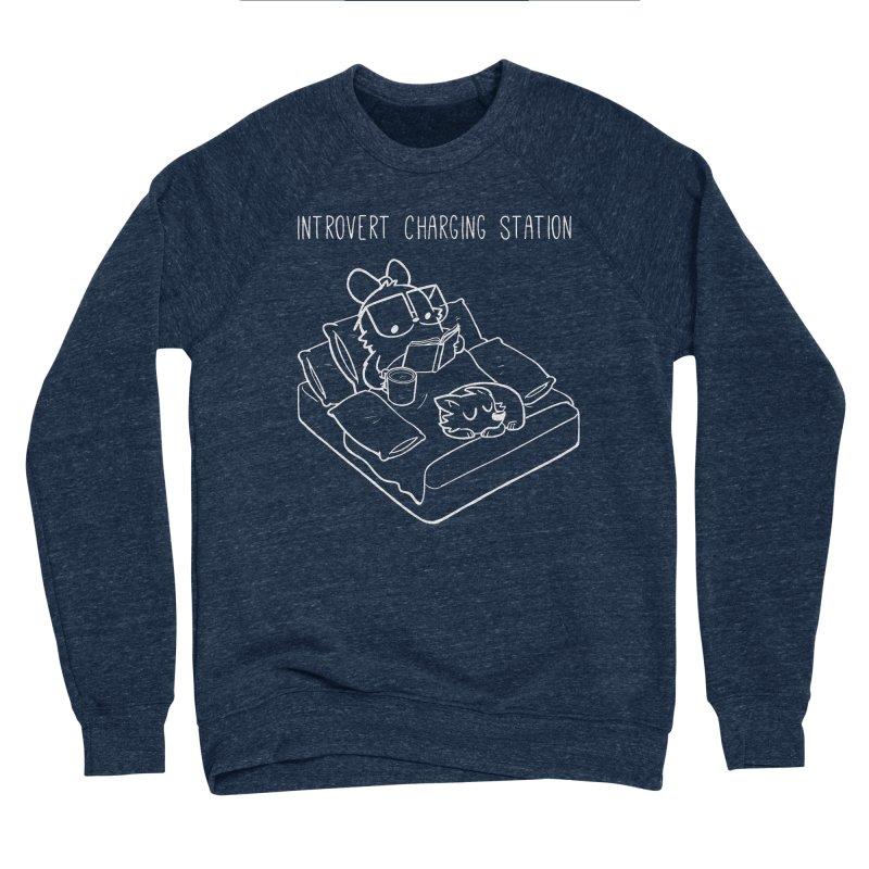 Introvert Charging Station Men's Sponge Fleece Sweatshirt by SLOTHILDA