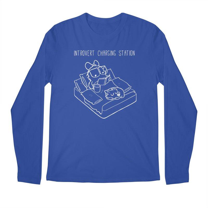 Introvert Charging Station Men's Regular Longsleeve T-Shirt by SLOTHILDA