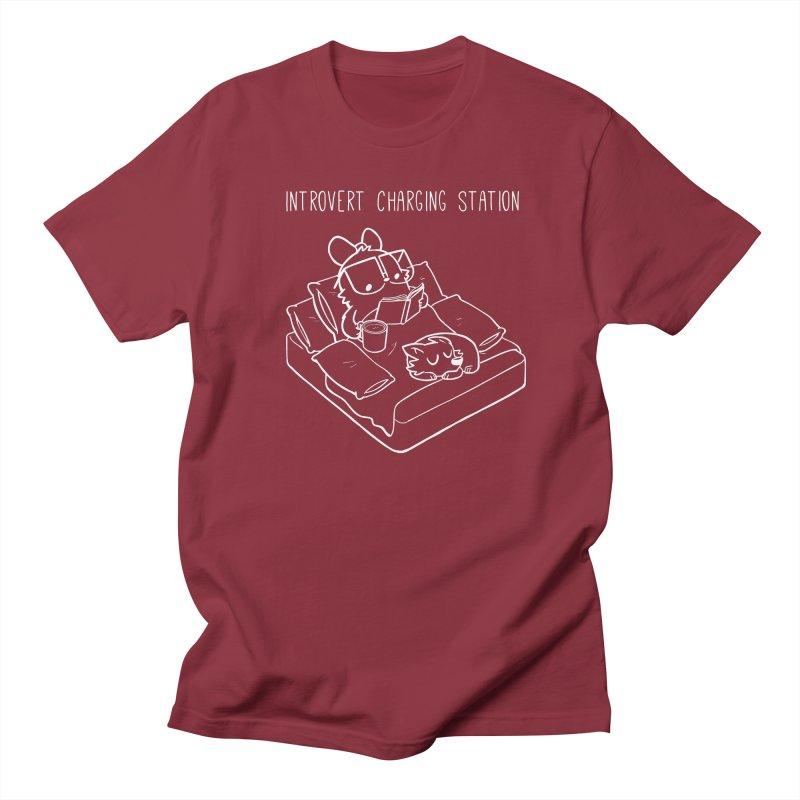 Introvert Charging Station Men's Regular T-Shirt by SLOTHILDA