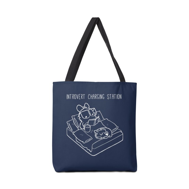 Introvert Charging Station Accessories Tote Bag Bag by SLOTHILDA