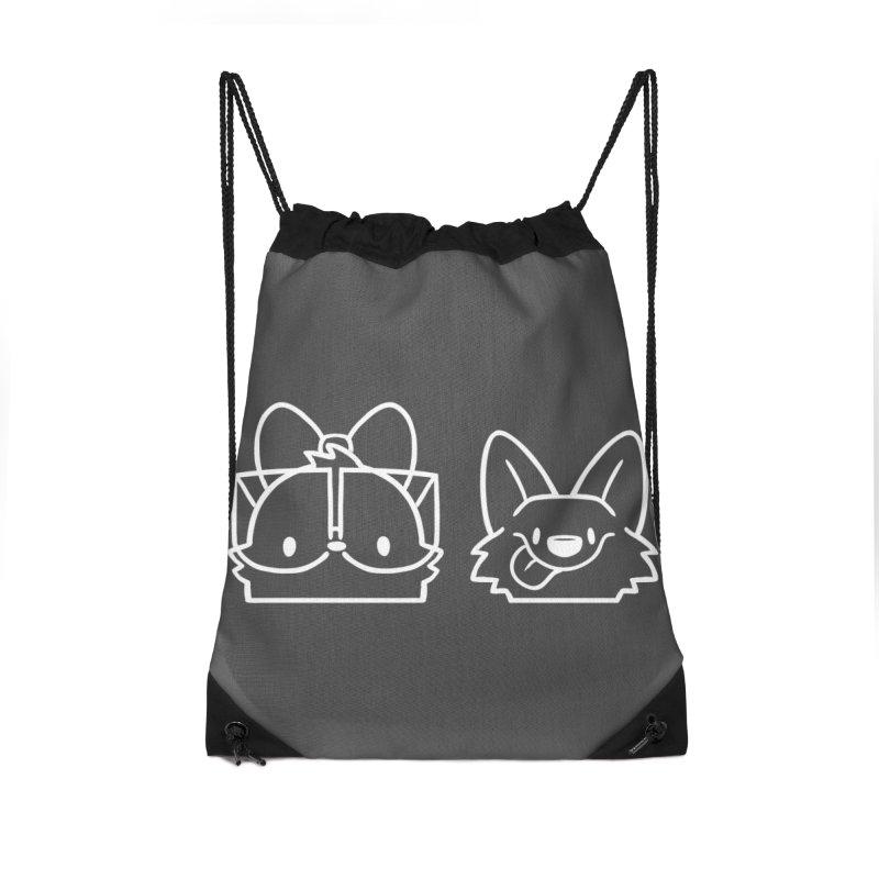 Best Friends Accessories Drawstring Bag Bag by SLOTHILDA
