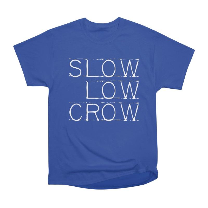 SLC Font Logo Men's Heavyweight T-Shirt by Slow Low Crow Merch Shop