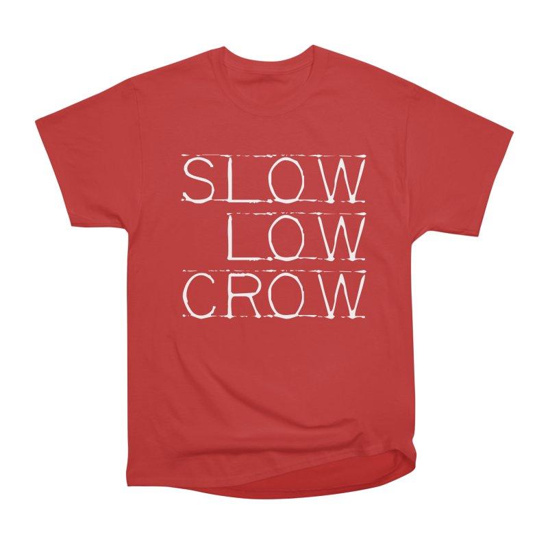 SLC Font Logo Women's Heavyweight Unisex T-Shirt by Slow Low Crow Merch Shop
