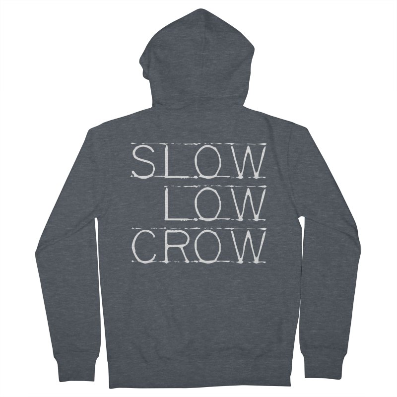 SLC Font Logo Men's French Terry Zip-Up Hoody by Slow Low Crow Merch Shop