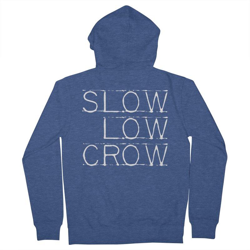 SLC Font Logo Men's Zip-Up Hoody by Slow Low Crow Merch Shop