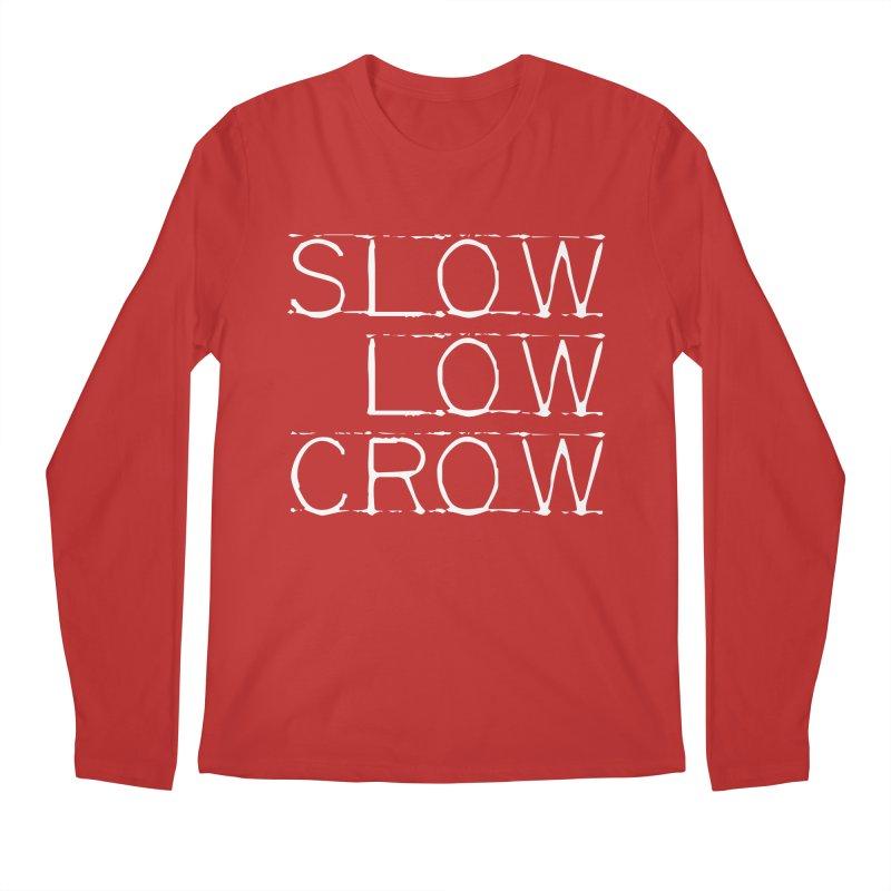 SLC Font Logo Men's Regular Longsleeve T-Shirt by Slow Low Crow Merch Shop