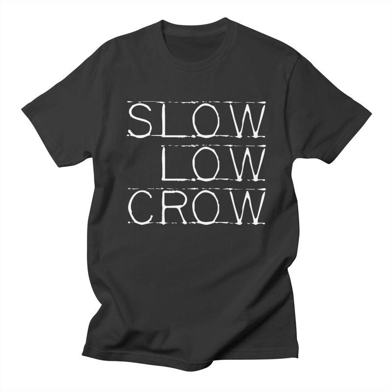 SLC Font Logo Men's Regular T-Shirt by Slow Low Crow Merch Shop