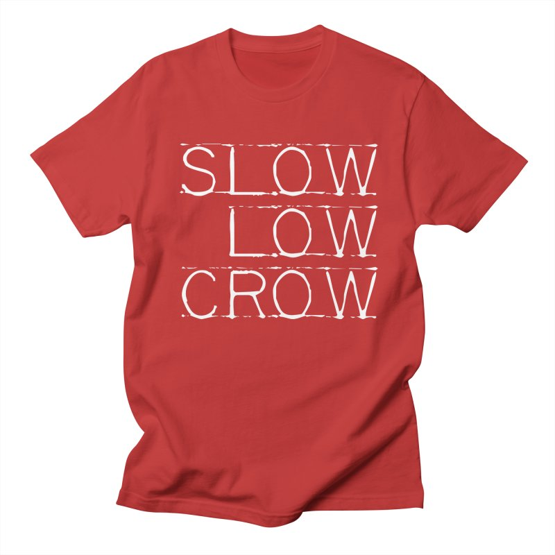SLC Font Logo Men's Regular T-Shirt by Slow Low Crow Merch Shop