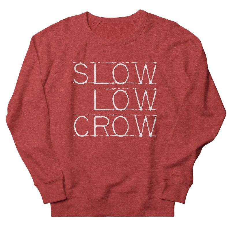 SLC Font Logo Men's French Terry Sweatshirt by Slow Low Crow Merch Shop