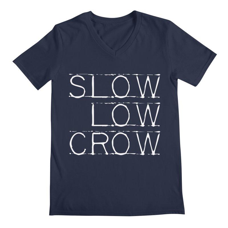 SLC Font Logo Men's Regular V-Neck by Slow Low Crow Merch Shop