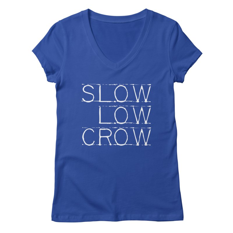 SLC Font Logo Women's Regular V-Neck by Slow Low Crow Merch Shop