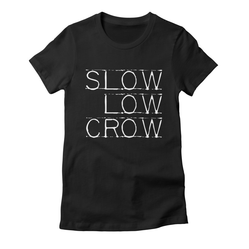 SLC Font Logo Women's Fitted T-Shirt by Slow Low Crow Merch Shop