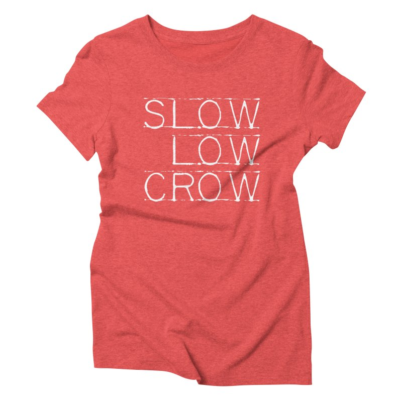 SLC Font Logo Women's Triblend T-Shirt by Slow Low Crow Merch Shop