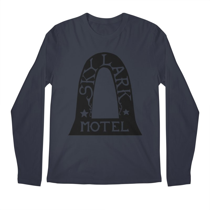 Skylark Motel - Black Version Men's Longsleeve T-Shirt by Slow Low Crow Merch Shop