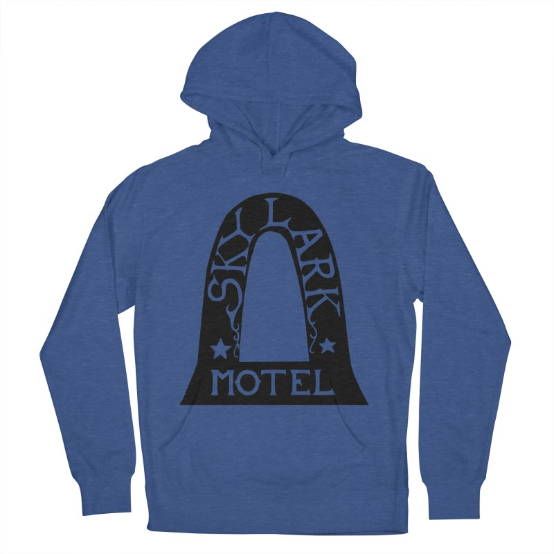 Skylark Motel - Black Version Men's French Terry Pullover Hoody by Slow Low Crow Merch Shop