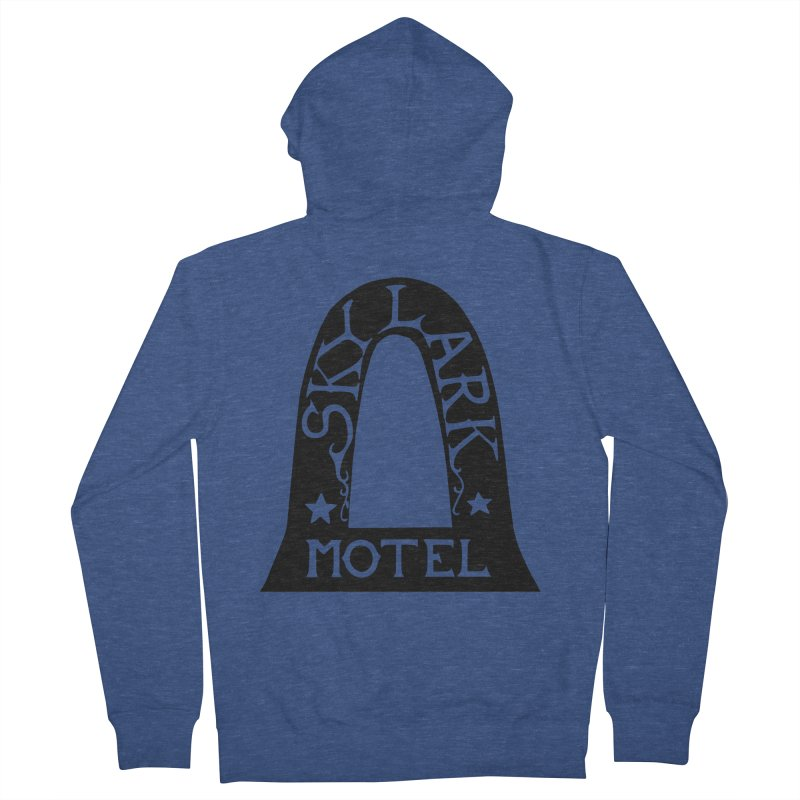 Skylark Motel - Black Version Women's French Terry Zip-Up Hoody by Slow Low Crow Merch Shop