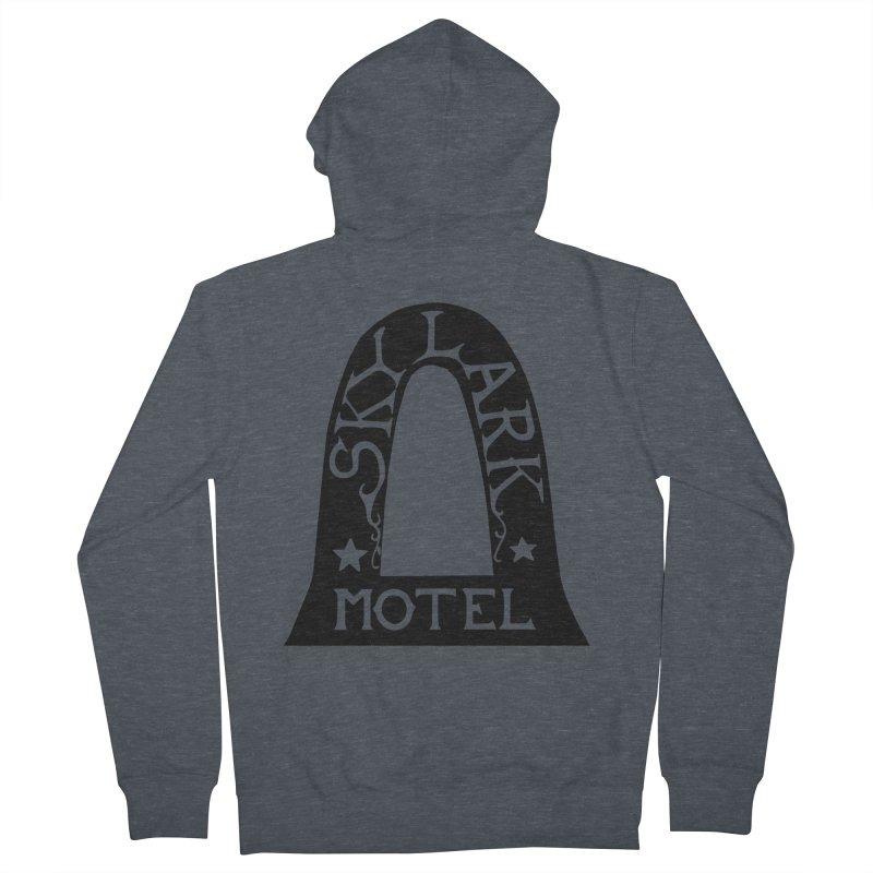 Skylark Motel - Black Version Men's French Terry Zip-Up Hoody by Slow Low Crow Merch Shop