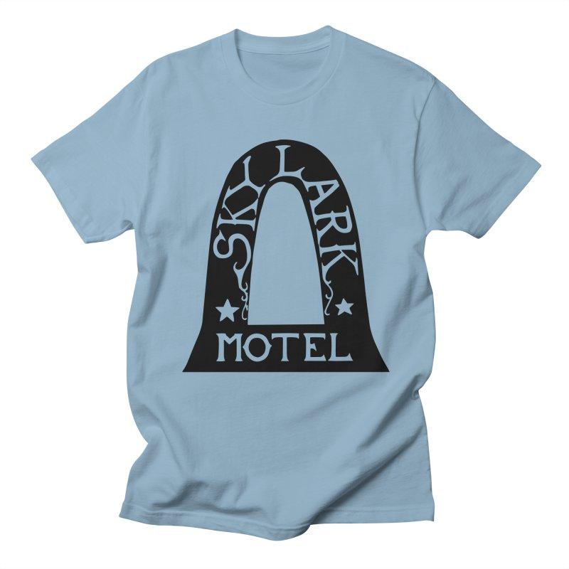 Skylark Motel - Black Version Men's T-Shirt by Slow Low Crow Merch Shop