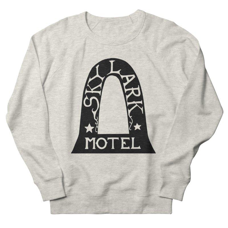 Skylark Motel - Black Version Women's French Terry Sweatshirt by Slow Low Crow Merch Shop