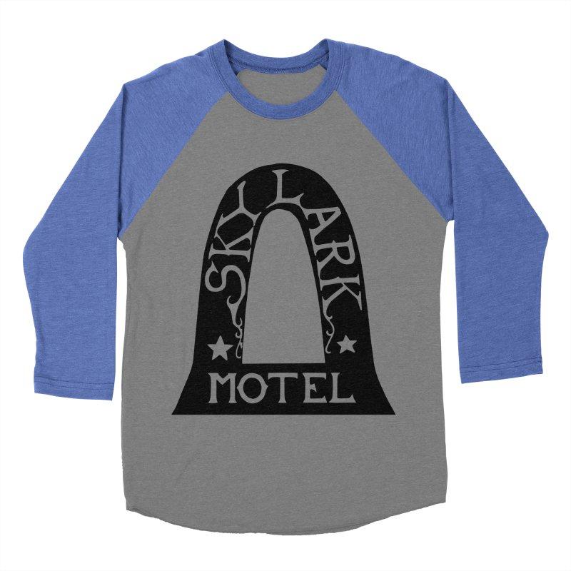 Skylark Motel - Black Version Men's Baseball Triblend Longsleeve T-Shirt by Slow Low Crow Merch Shop