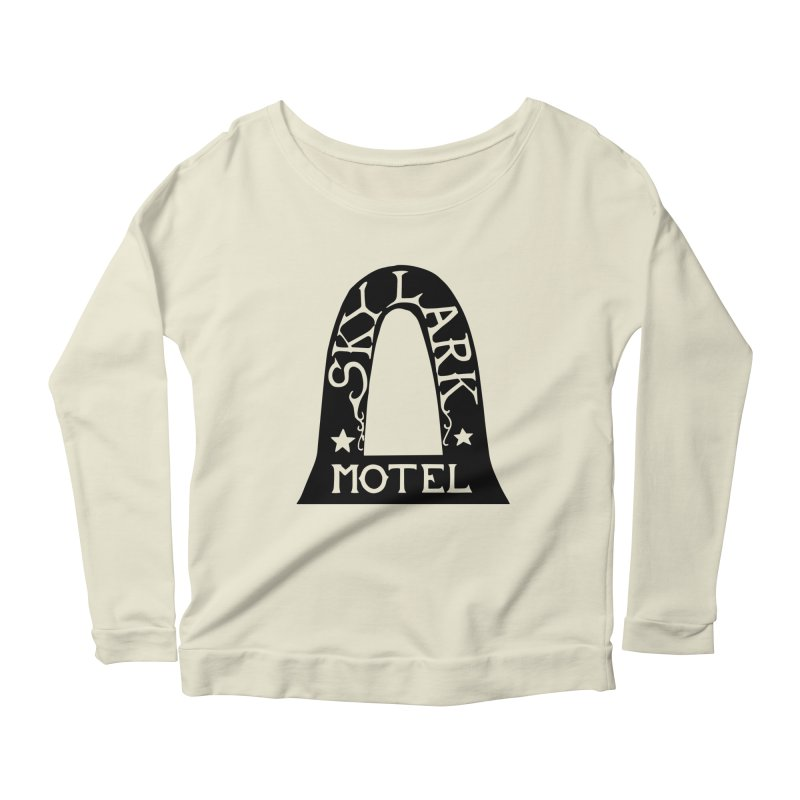 Skylark Motel - Black Version Women's Scoop Neck Longsleeve T-Shirt by Slow Low Crow Merch Shop