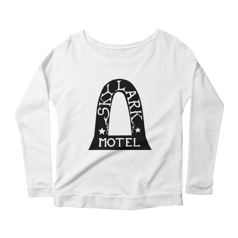 Skylark Motel - Black Version Women's Scoop Neck Longsleeve T-Shirt by Slow Low Crow Merch Shop