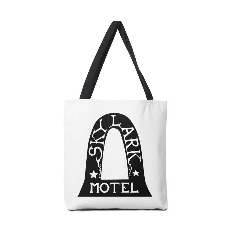 Skylark Motel - Black Version Accessories Tote Bag Bag by Slow Low Crow Merch Shop