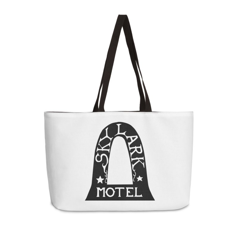 Skylark Motel - Black Version Accessories Weekender Bag Bag by Slow Low Crow Merch Shop