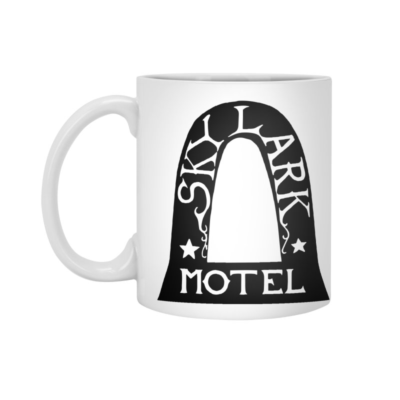 Skylark Motel - Black Version Accessories Standard Mug by Slow Low Crow Merch Shop
