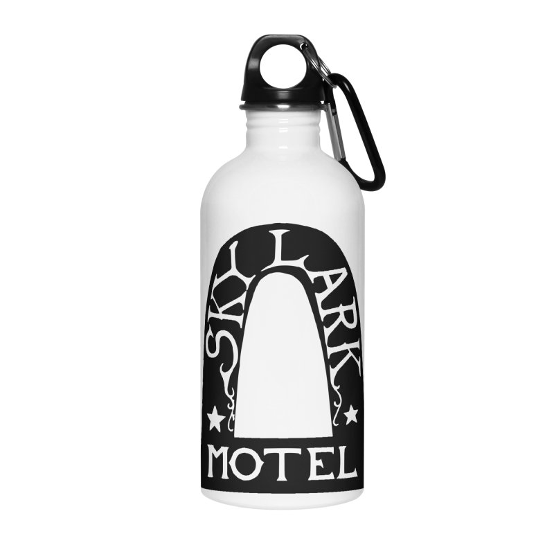 Skylark Motel - Black Version Accessories Water Bottle by Slow Low Crow Merch Shop