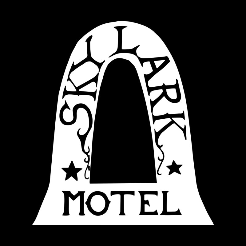 Skylark Motel - White Logo Version Men's V-Neck by Slow Low Crow Merch Shop
