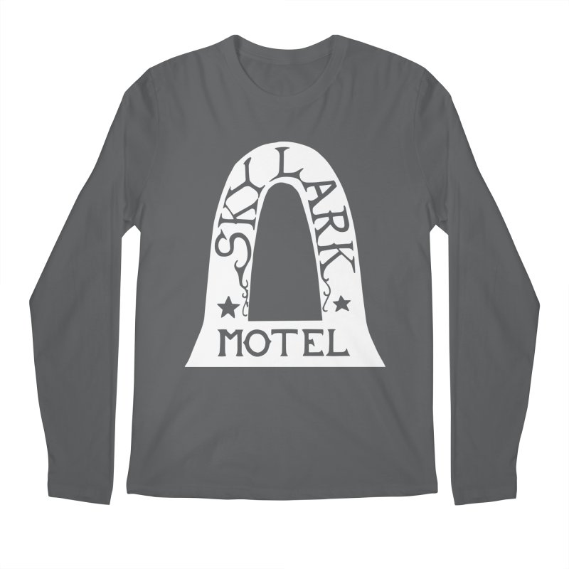 Skylark Motel - White Logo Version Men's Longsleeve T-Shirt by Slow Low Crow Merch Shop