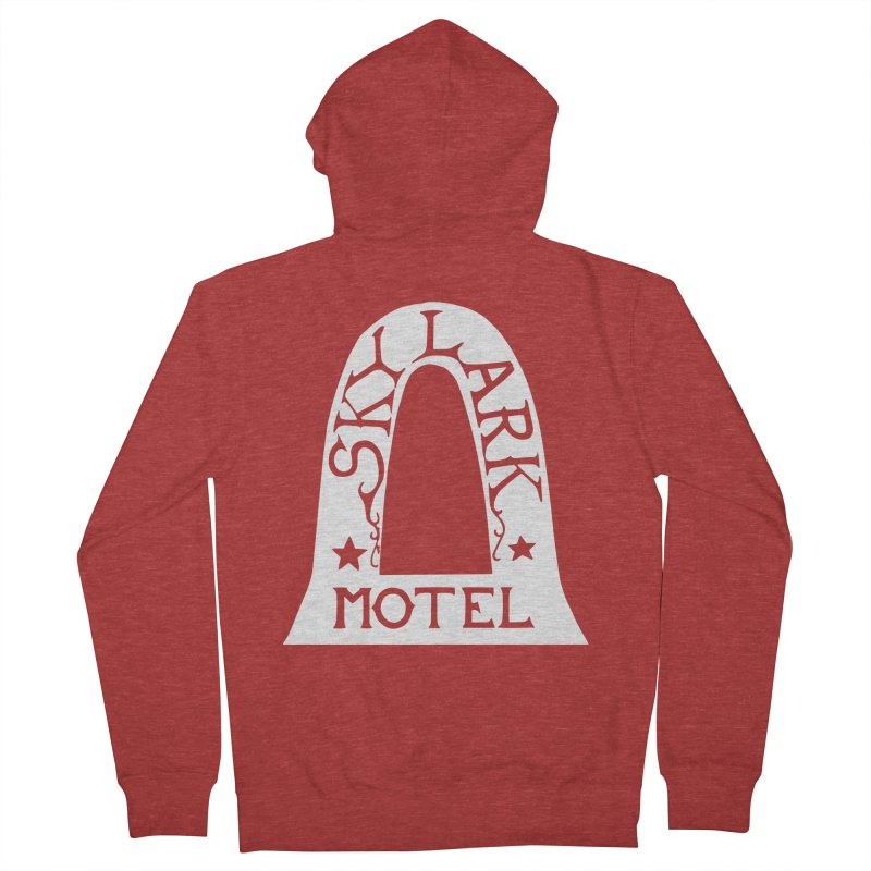 Skylark Motel - White Logo Version Women's French Terry Zip-Up Hoody by Slow Low Crow Merch Shop