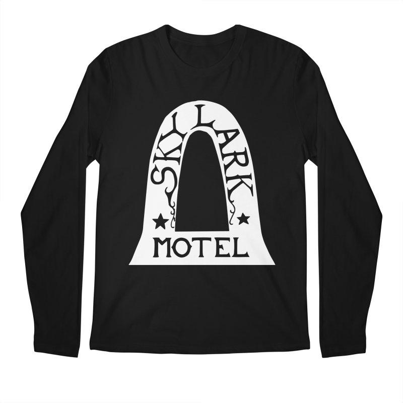 Skylark Motel - White Logo Version Men's Regular Longsleeve T-Shirt by Slow Low Crow Merch Shop