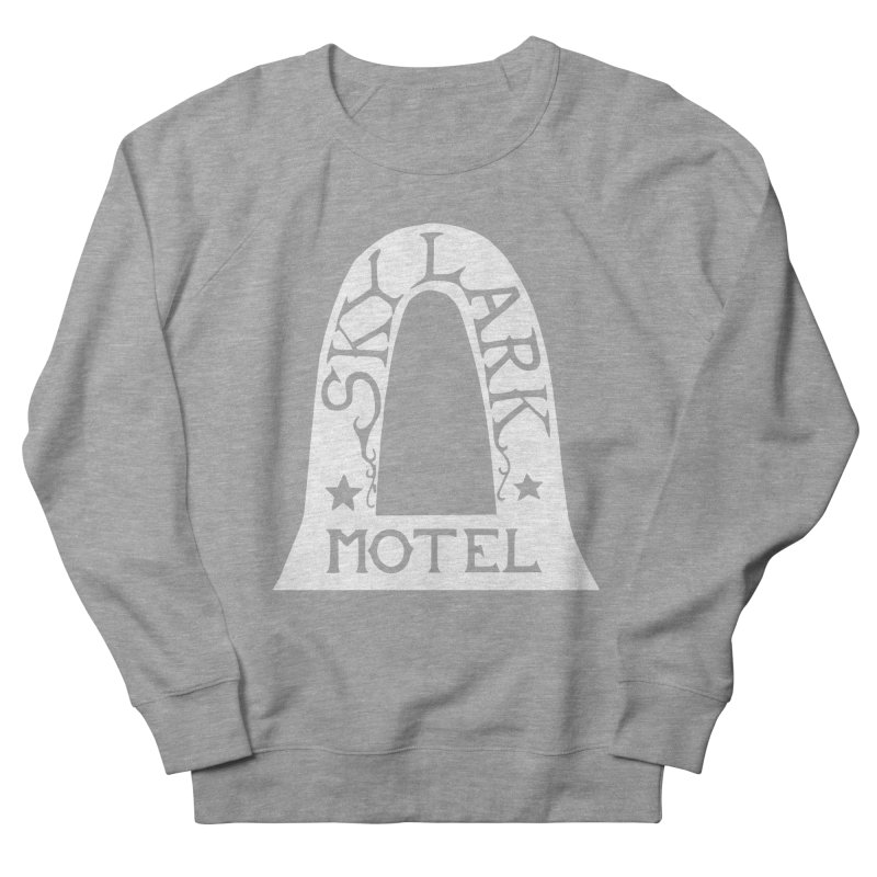 Skylark Motel - White Logo Version Women's French Terry Sweatshirt by Slow Low Crow Merch Shop