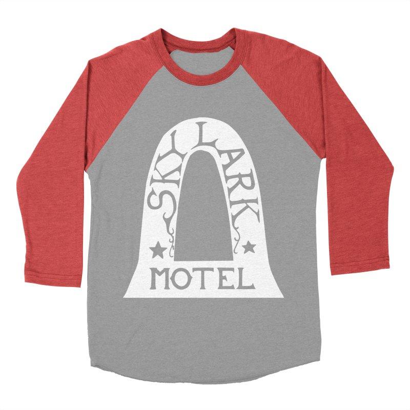 Skylark Motel - White Logo Version Men's Longsleeve T-Shirt by Slow Low Crow Merch Shop