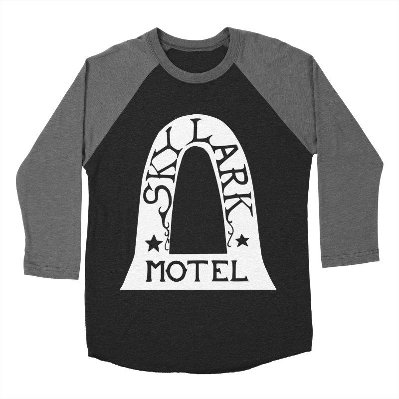 Skylark Motel - White Logo Version Men's Baseball Triblend Longsleeve T-Shirt by Slow Low Crow Merch Shop