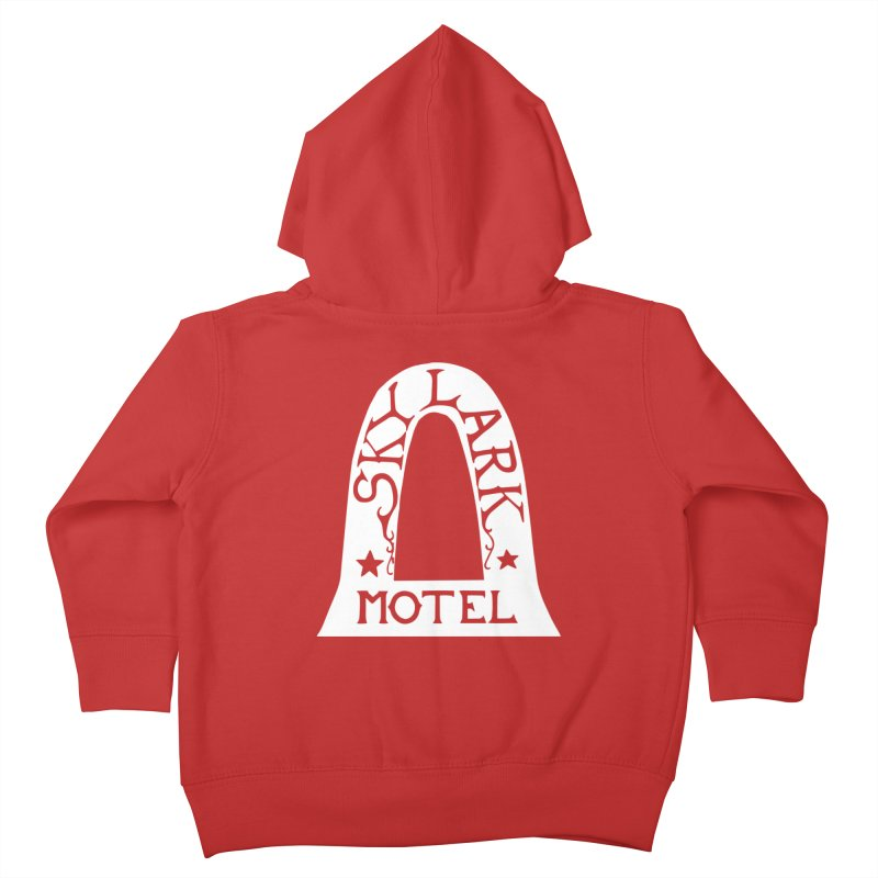 Skylark Motel - White Logo Version Kids Toddler Zip-Up Hoody by Slow Low Crow Merch Shop