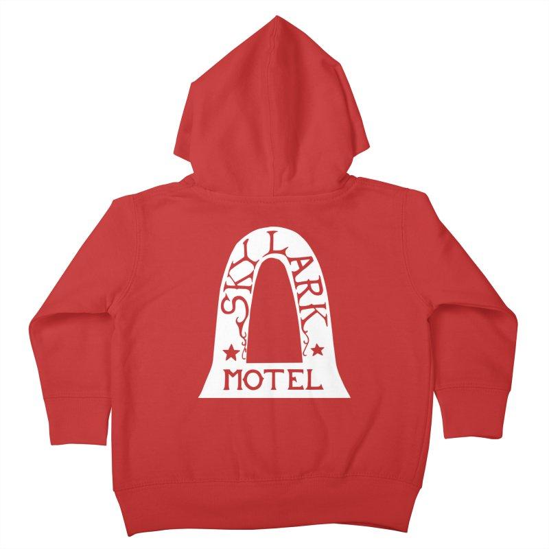 Skylark Motel - White Logo Version Kids Toddler Zip-Up Hoody by Slow Low Crow Merch Shop