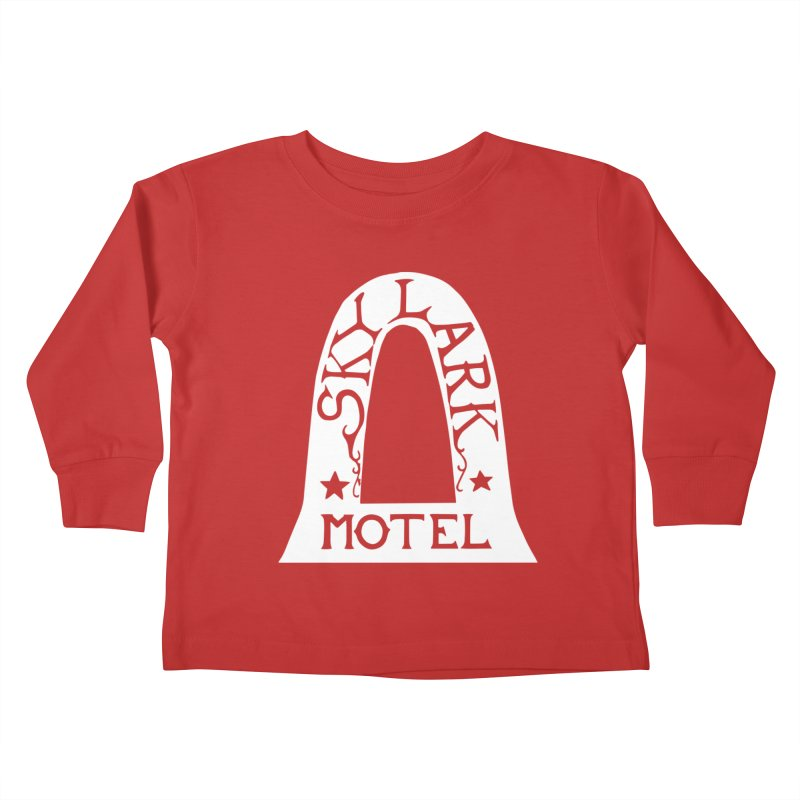 Skylark Motel - White Logo Version Kids Toddler Longsleeve T-Shirt by Slow Low Crow Merch Shop