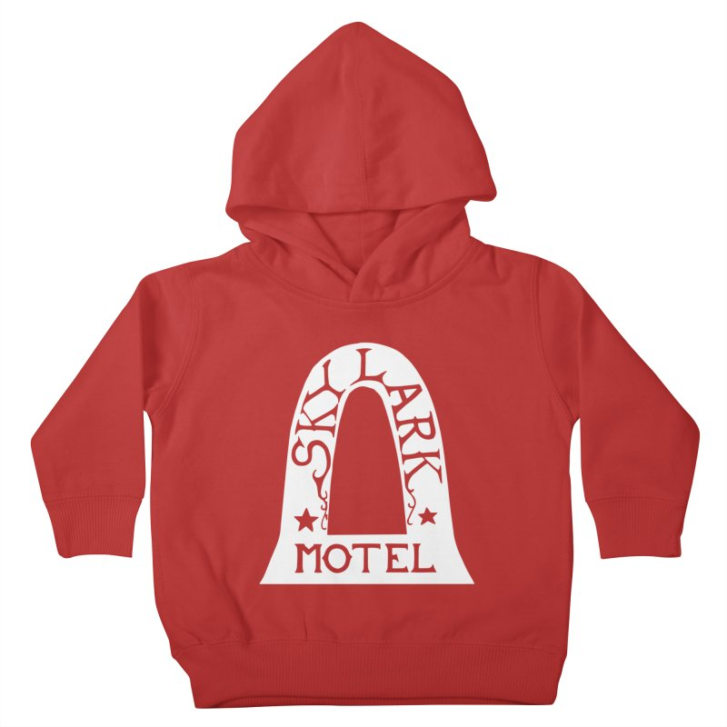 Skylark Motel - White Logo Version Kids Toddler Pullover Hoody by Slow Low Crow Merch Shop