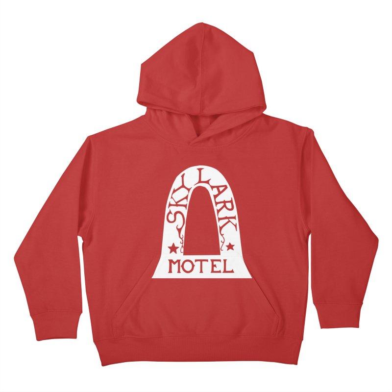 Skylark Motel - White Logo Version Kids Pullover Hoody by Slow Low Crow Merch Shop
