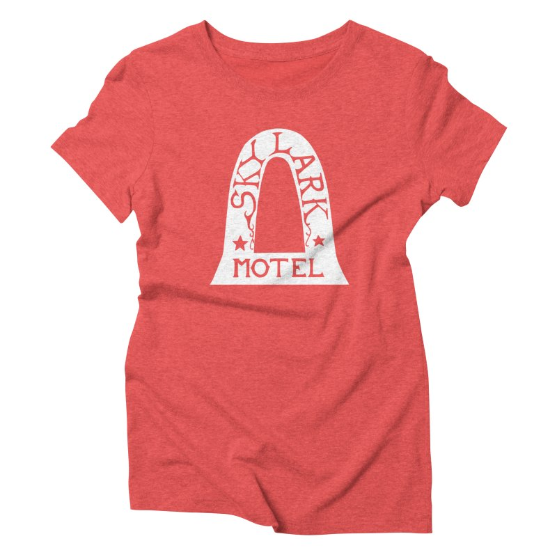 Skylark Motel - White Logo Version Women's T-Shirt by Slow Low Crow Merch Shop