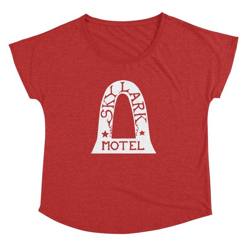 Skylark Motel - White Logo Version Women's Dolman Scoop Neck by Slow Low Crow Merch Shop