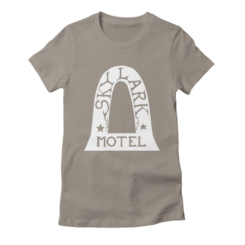 Skylark Motel - White Logo Version Women's Fitted T-Shirt by Slow Low Crow Merch Shop
