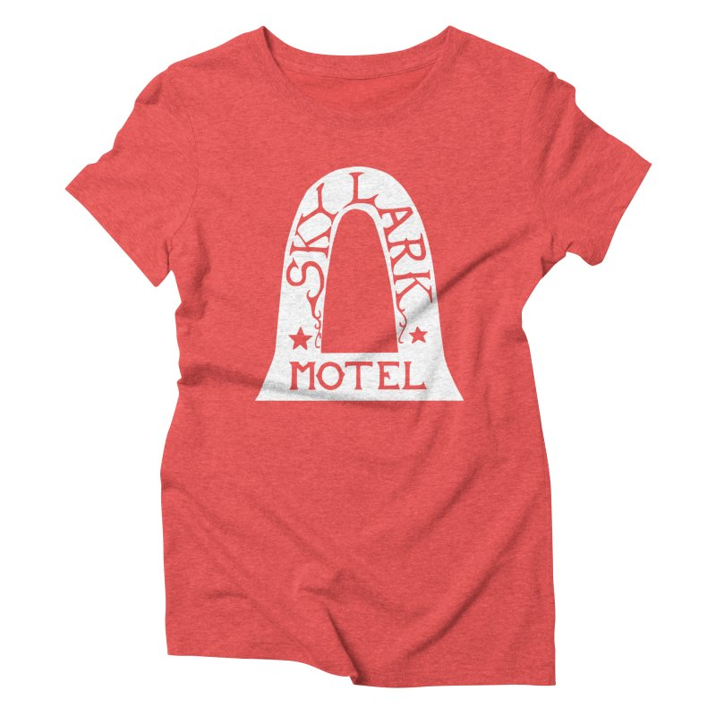 Skylark Motel - White Logo Version Women's Triblend T-Shirt by Slow Low Crow Merch Shop