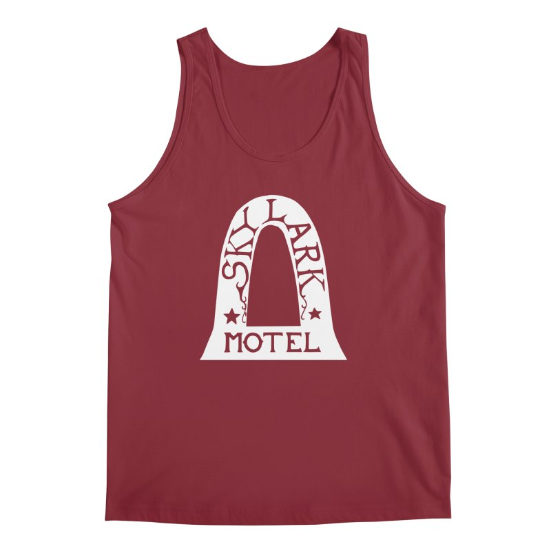Skylark Motel - White Logo Version Men's Tank by Slow Low Crow Merch Shop